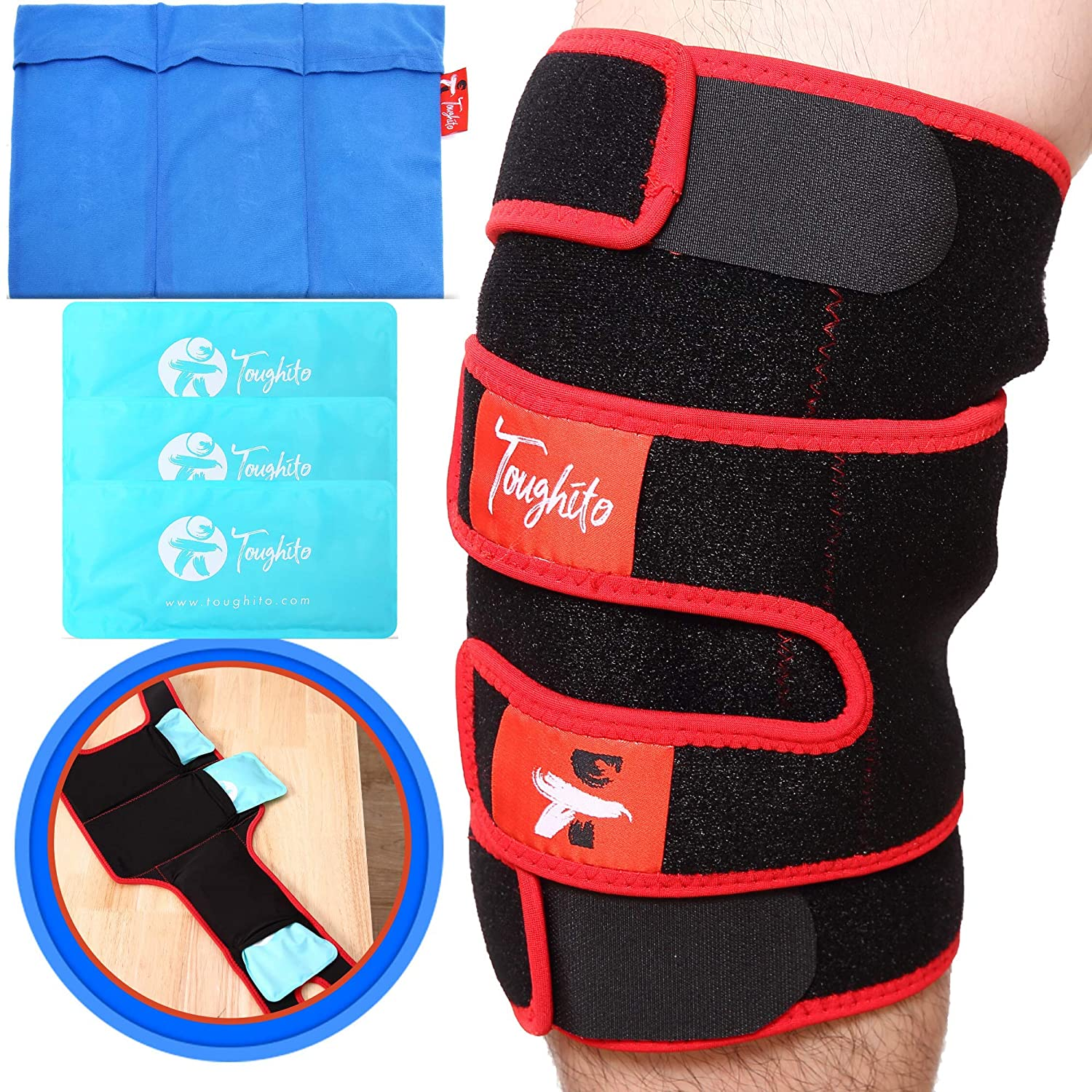 Hot & Cold Knee Ice Pack Wrap