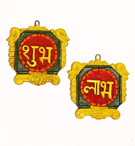 fa970323e Buy Kieana Shubh-Labh Peacock Art Door Wall Hanging (toran) Handicraft Item  for Diwali Decoration   Gift Terracotta Handmade Online at Low Prices in  India ...