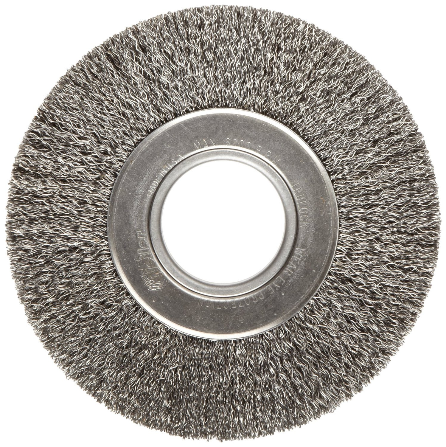 Forney  1-1//2 in Crimped  Wire Wheel Brush  Metal  6000 rpm 1 pc.