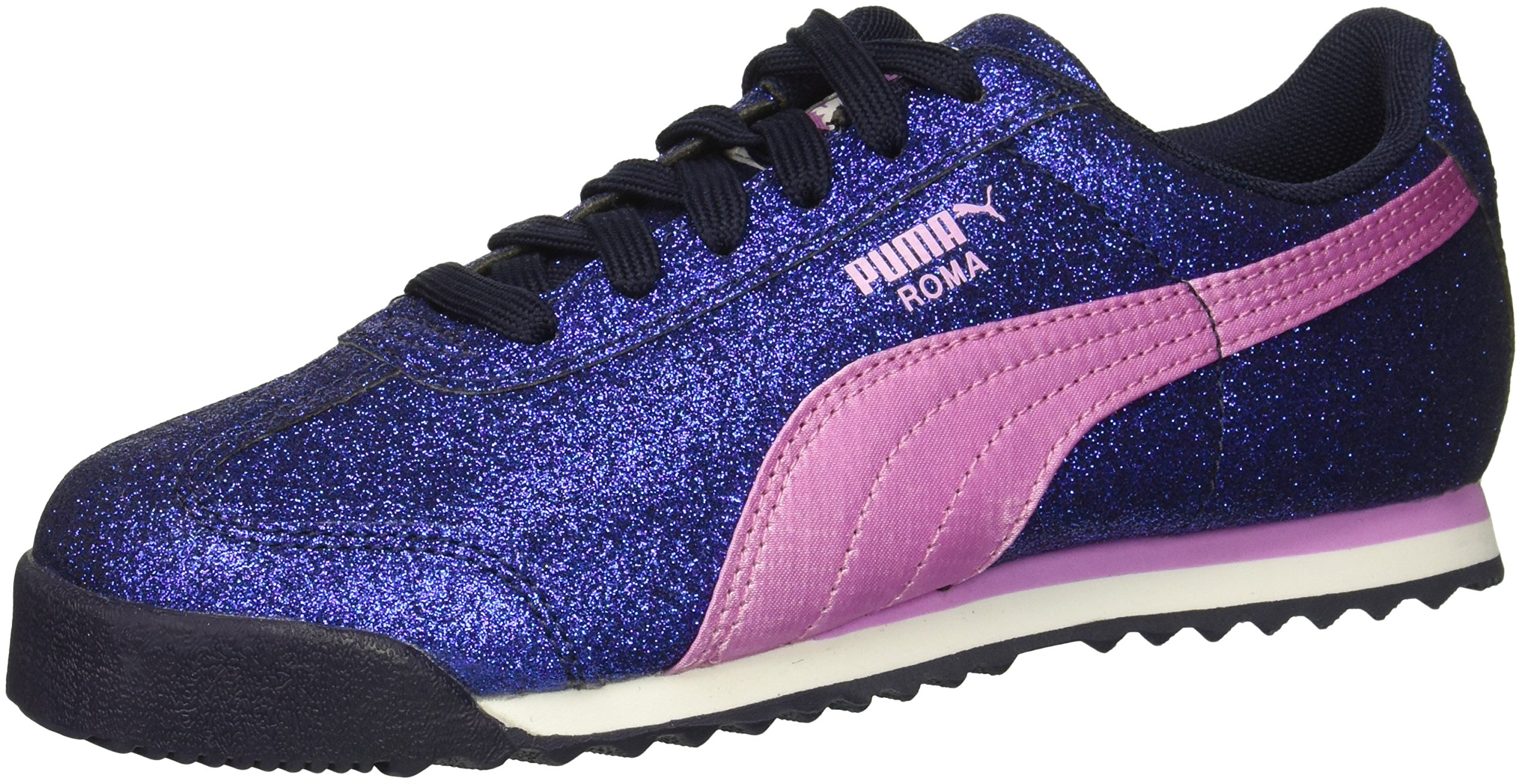 PUMA Baby Roma Glamour Kids Sneaker, Peacoat-Orchid, 9 M US Toddler