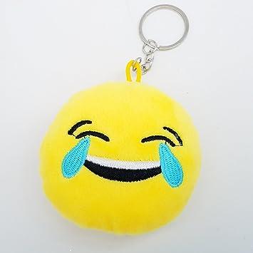 2 pulgadas Mini Rolf sonriente emoji llavero llavero ...