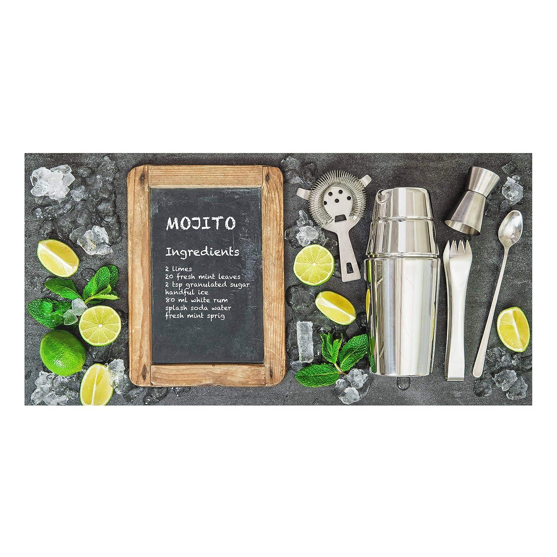 Bilderwelten Spritzschutz Glas - Mojito Rezept - Quer 1:2, Größe HxB: 40cm x 80cm PPS. Imaging GmbH