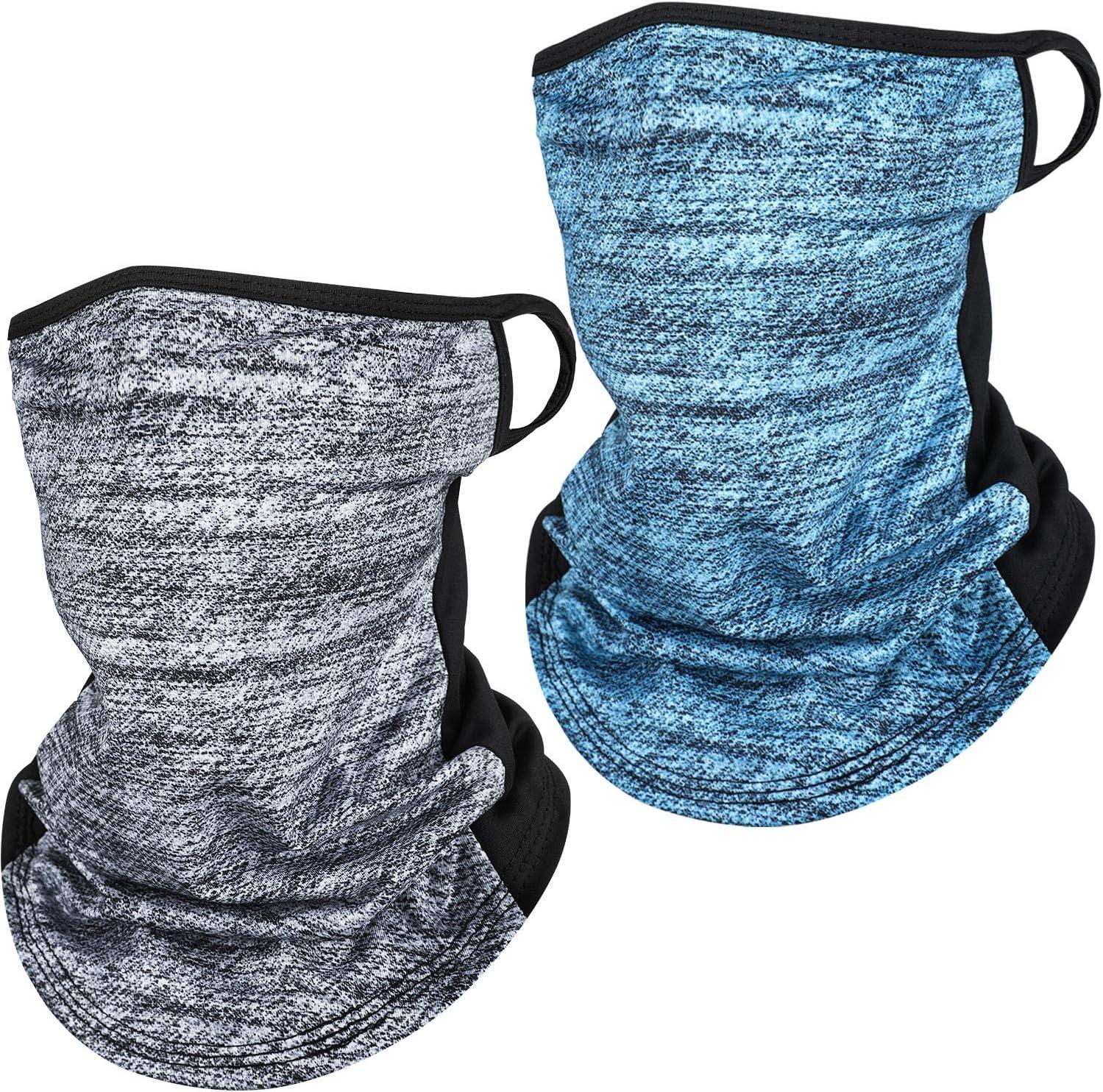 SATINIOR 2 St/ück Halstuch Eisseide Bandana Schal UV-Schutz Gesichtsschutz Sommer Sturmhaube Kopfbedeckung f/ür Outdoor