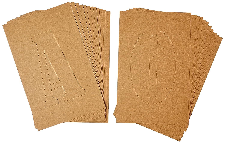 Plaid:Craft Cardboard FolkArt Home Decor Stencil Letters Template 34948
