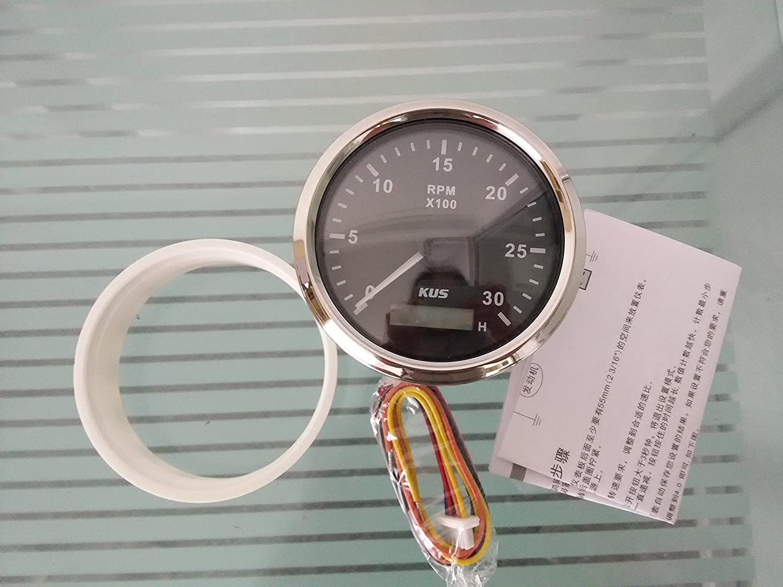 Kus tac/ómetro con contador de horas 3000/para motor de gasolina con retroiluminaci/ón 85/mm