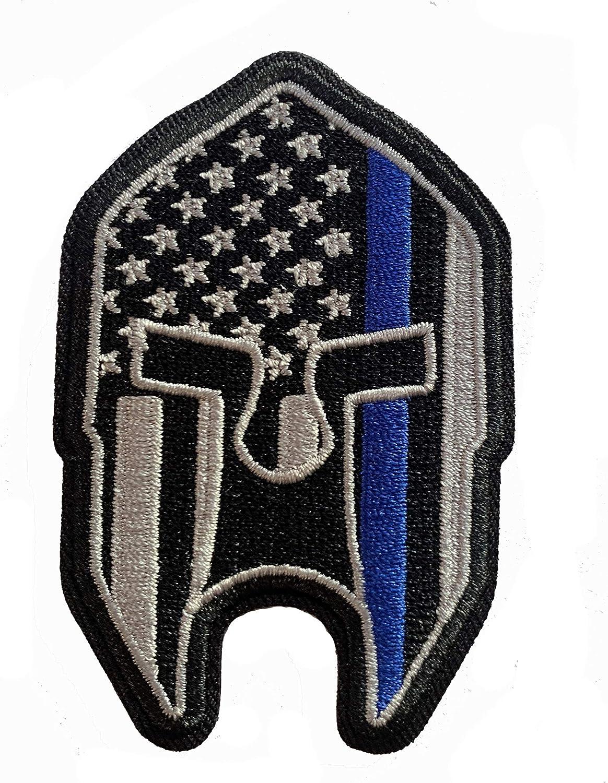Stevens Tactical Shop Subdued Delgada línea Azul Americano Bandera Spartan Casco Parche: Amazon.es: Jardín
