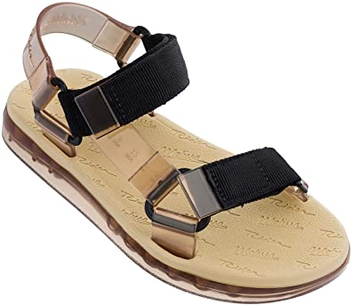 4d3203ca2 Amazon.com | + Melissa Luxury Shoes Women's x Rider Papete Flat Sandal  Beige/Black 3 UK (US Women's 5) B (M) | Flats