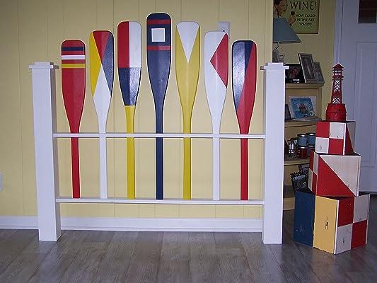 Nautical Queen headboard, Shabby Chic headboard, Coastal headboard, Cottage Headboard,