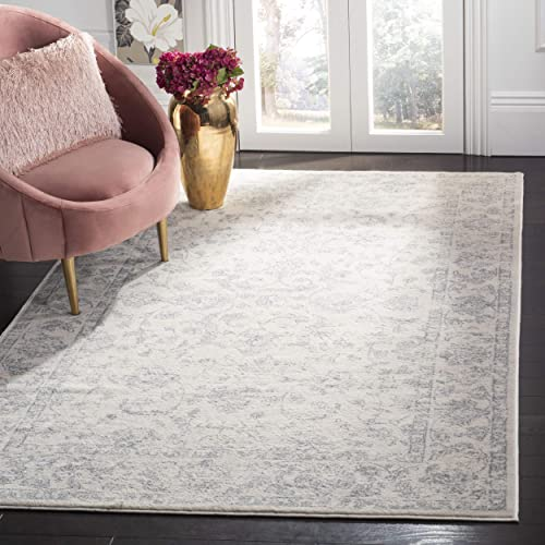 Safavieh Carnegie Collection CNG631C Vintage Cream and Light Grey Distressed Area Rug 8 x 10