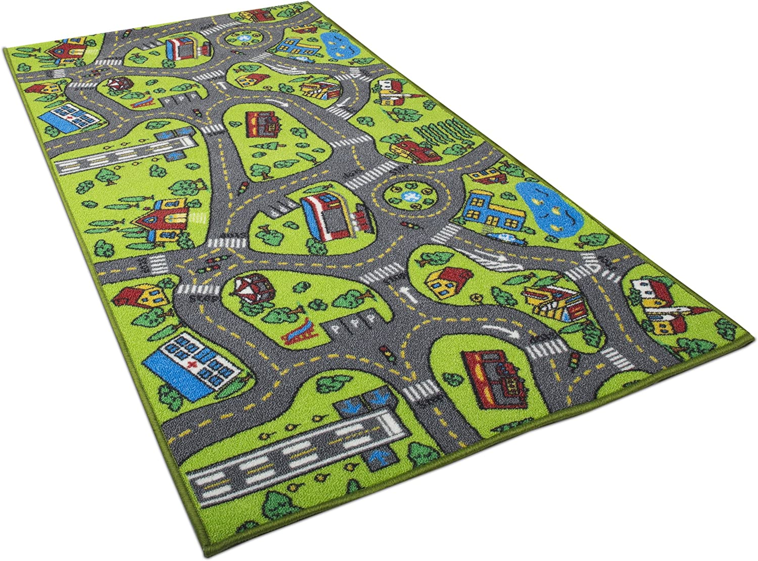 Kids Carpet Playmat Rug City Life Great For Playing With Cars And Toys Play Learn And Have Fun Safely Kids Baby Children Educational Road Traffic Play Mat For Bedroom
