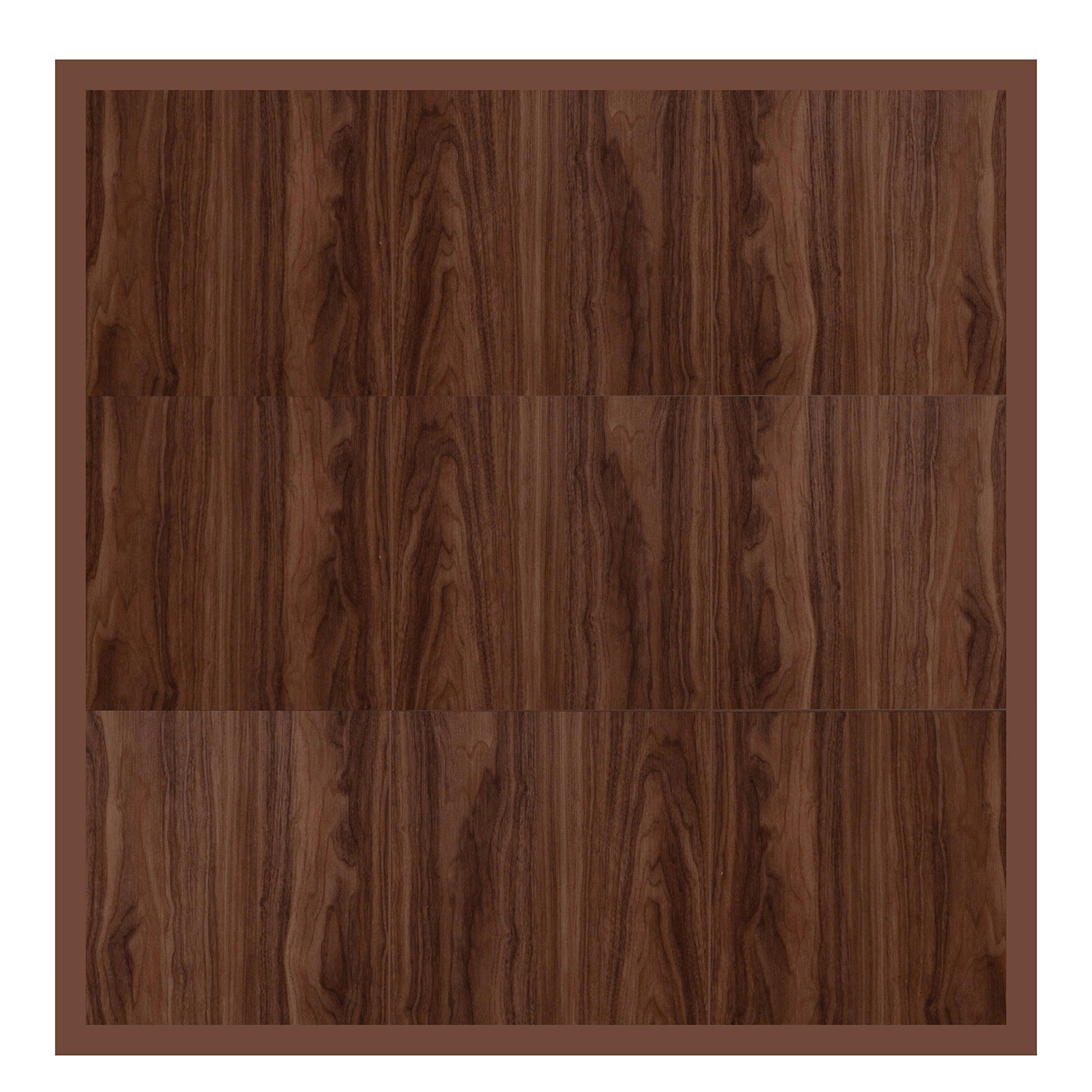 "Swisstrax ¾"" thick Interlocking ""Hardwood"" Floor Tiles w/ Edges & Corners (4' x 4' Pad) - Dance Floors, Office Areas, Event Floors & more! (Medium Maple) by Swisstrax"