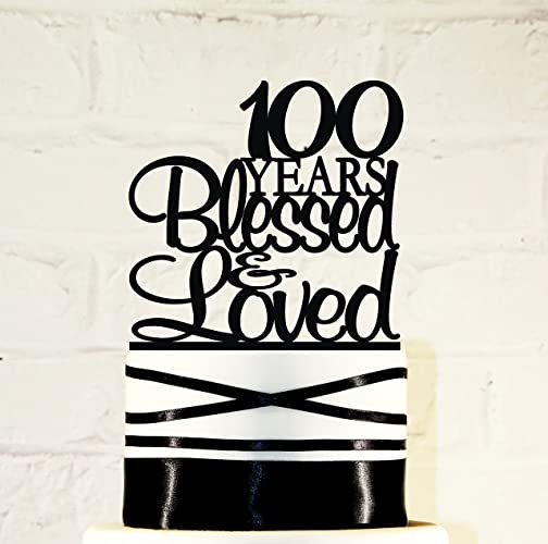 Image Unavailable Not Available For Color 100th Birthday Cake Topper