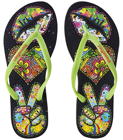 Womens' Antimicrobial Shower & Water Sandals for Pool Beach Dorm and Gym - BoHo Fun Collection