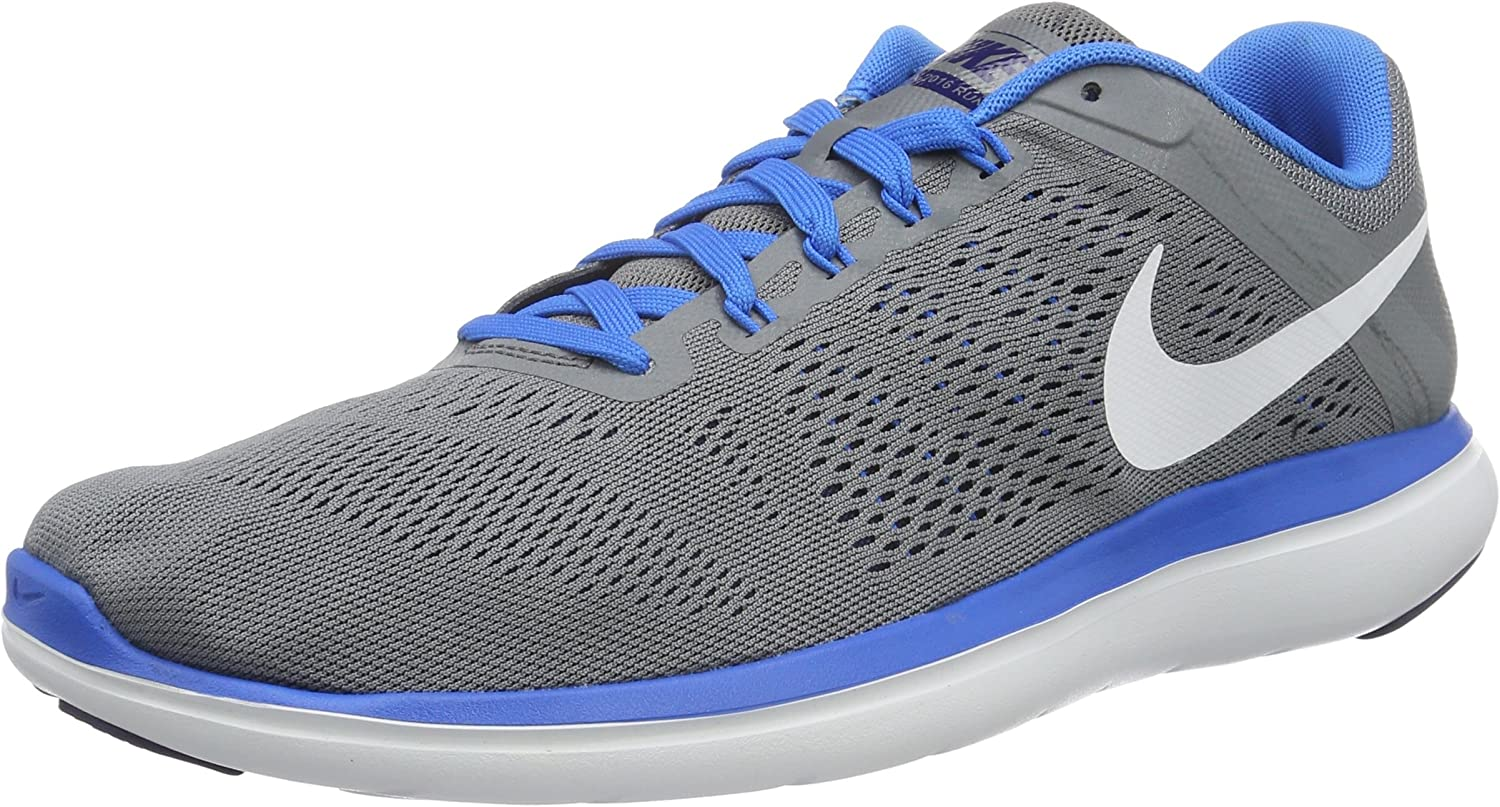 Nike Men s Flex 2016 Rn Cool Grey White-Loyal Blue Ankle-High Running Shoe –