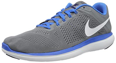 NIKE Men's Flex 2016 Rn Cool Grey/White-Loyal Blue Ankle-High Running