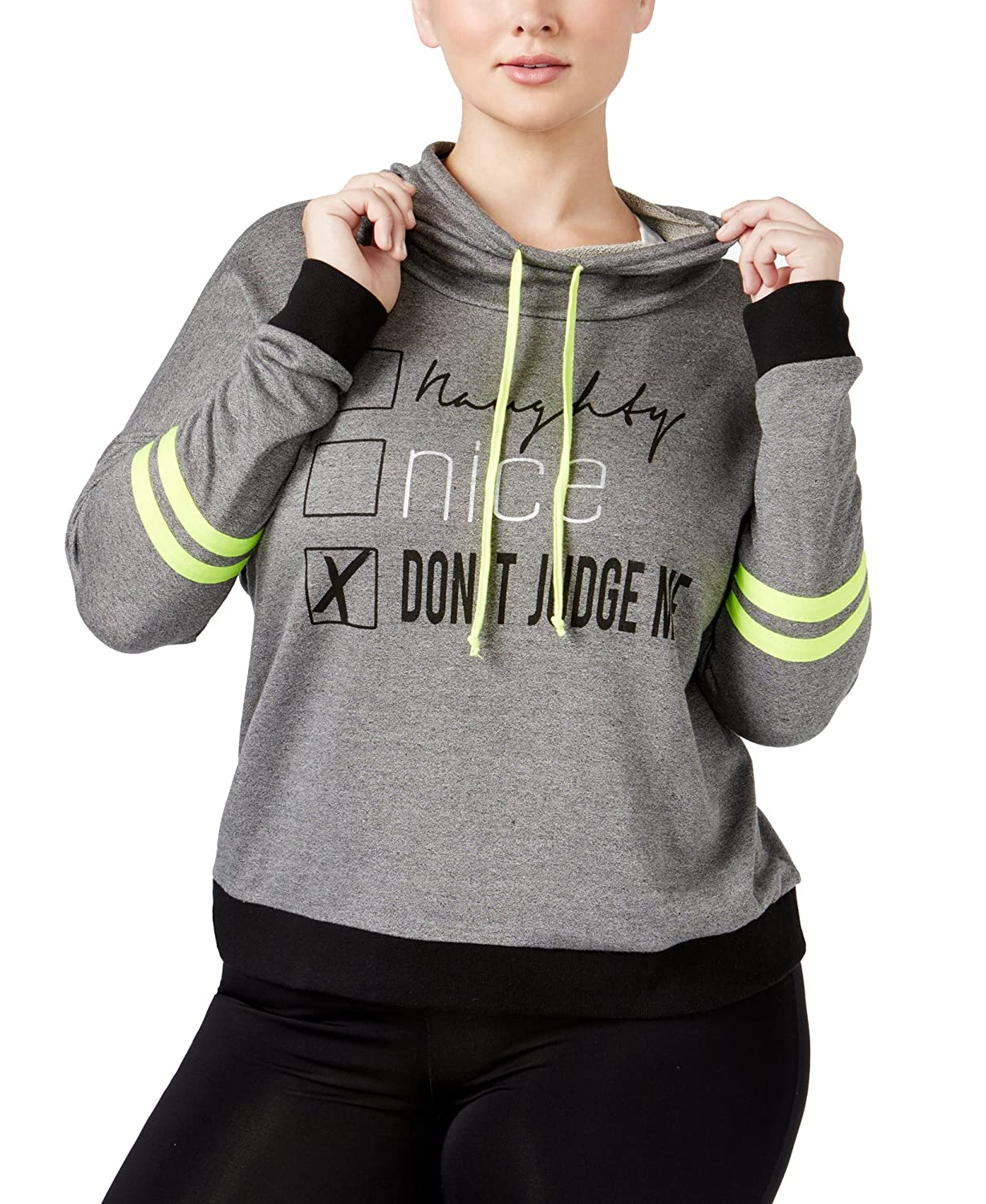 Material Girl Women's Active Plus Size Graphic Hoodie M61113W