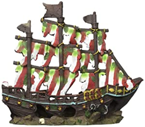 Striped Sail Shipwreck Medium - 14 x 5.5 x 13 inch