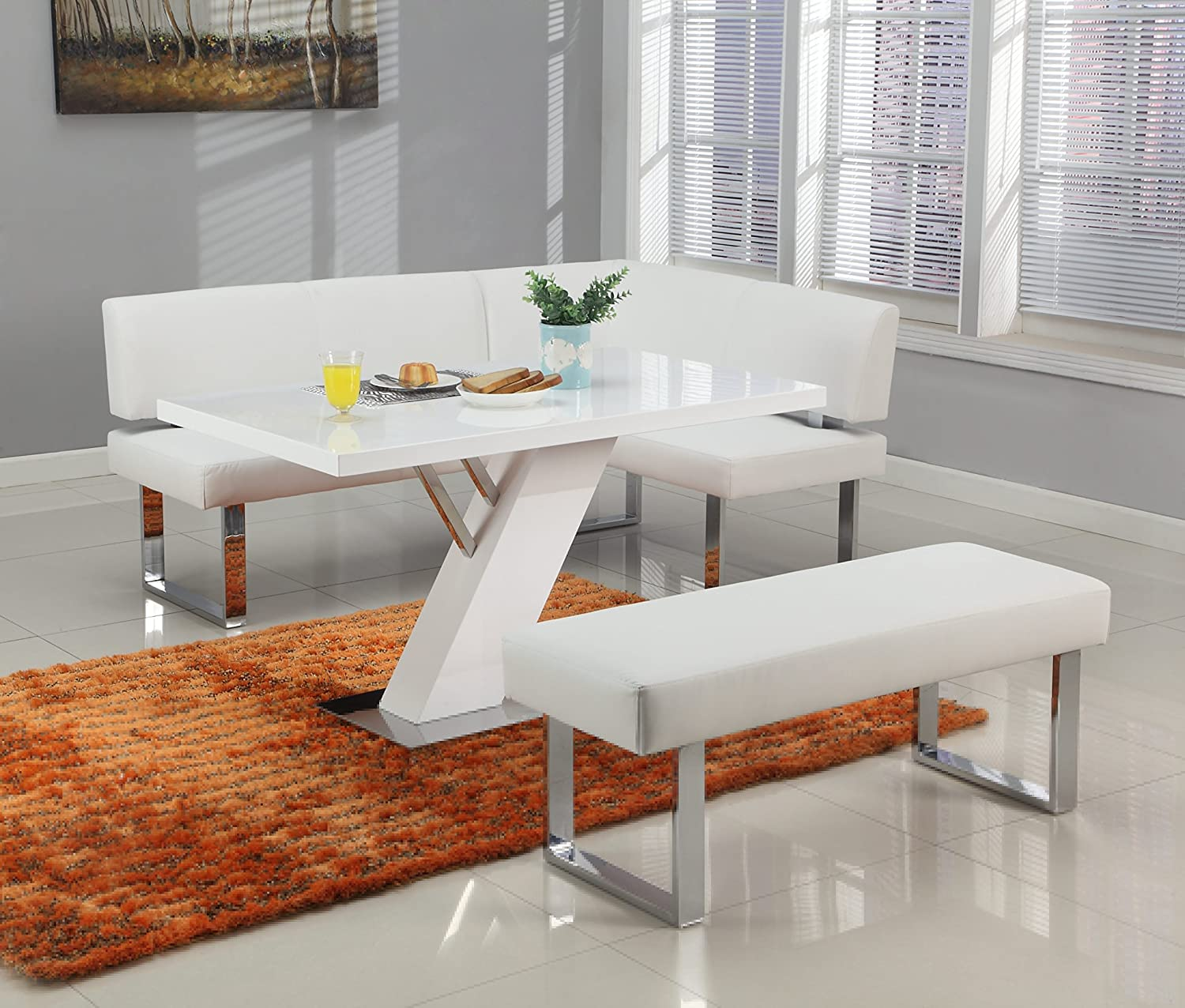 Milan LILLIAN-DT Lillian Gloss White Modern Design Dining Table