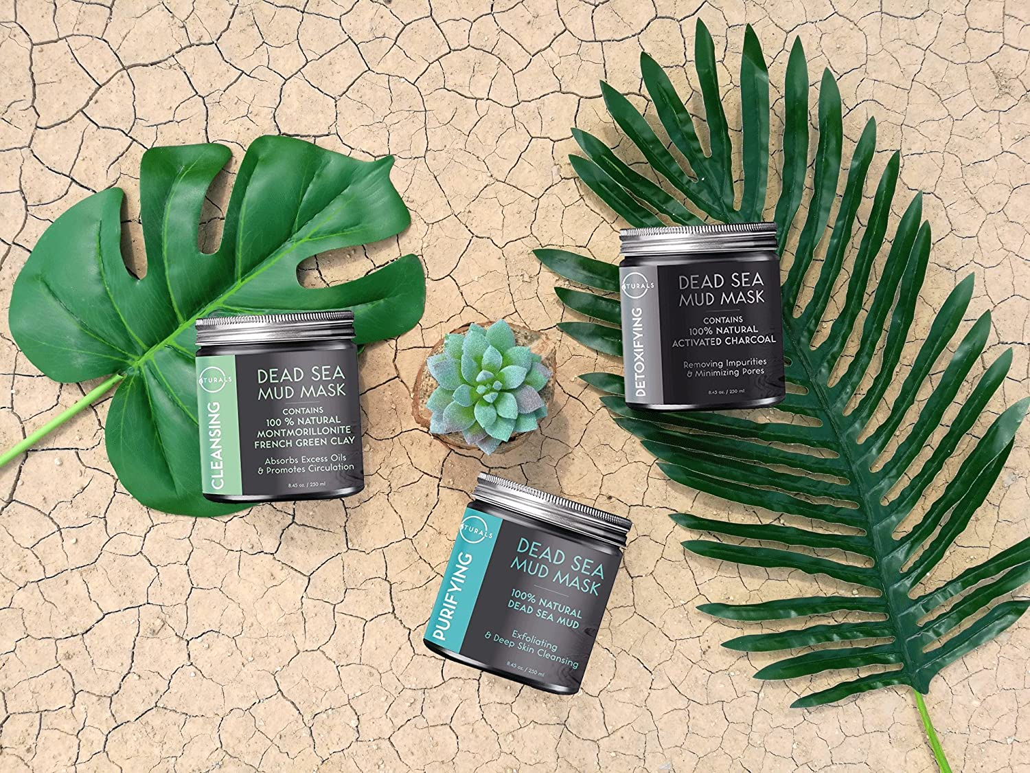 2a205833f84 Amazon.com   O Naturals Dead Sea Mud Mask with French Green Clay 100%  Natural Vegan Cleansing Face   Body Mask. Exfoliating