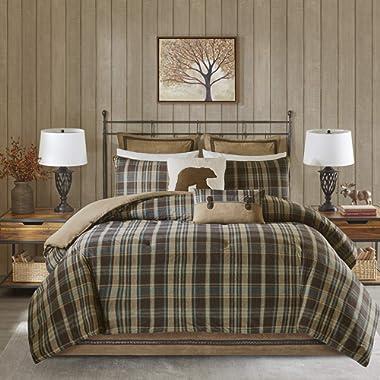 Woolrich Comforter Set, Queen, Hadley Plaid Multi