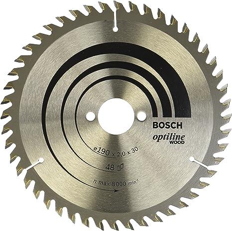 Bosch 2 608 641 186 - Hoja de sierra circular Optiline Wood - 190 x 30 x 2,0 mm, 48 (pack de 1): Amazon.es: Bricolaje y herramientas