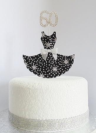60 Geburtstag Kuchen Dekoration Schwarz Und Silber Star Kleid Mit