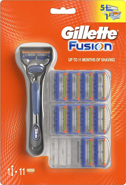Gillette Fusion Maquinilla de afeitar - 11 Recambios
