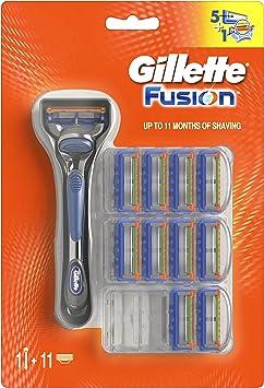 Gillette Fusion Maquinilla de afeitar - 10 Recambios: Amazon.es: Salud y cuidado personal