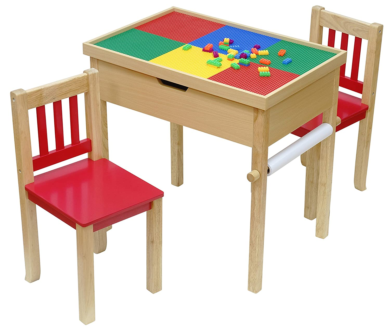 OKids Batman Deluxe 4-in-1 Flip Top Multi-Function Wooden Activity Table and Chair Set
