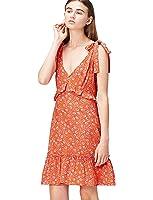 FIND Vestido Corto de Verano con Estampado de Flores