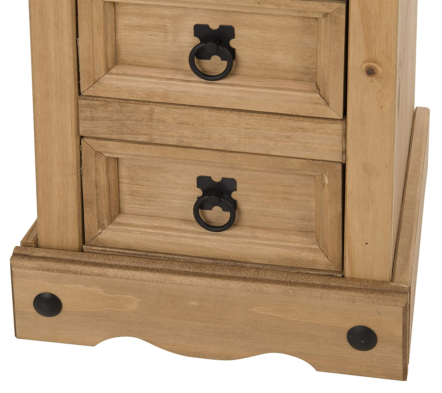 Corona 5 Drawer Narrow Chest Bedside Table Cabinet by Mercers Furniture®