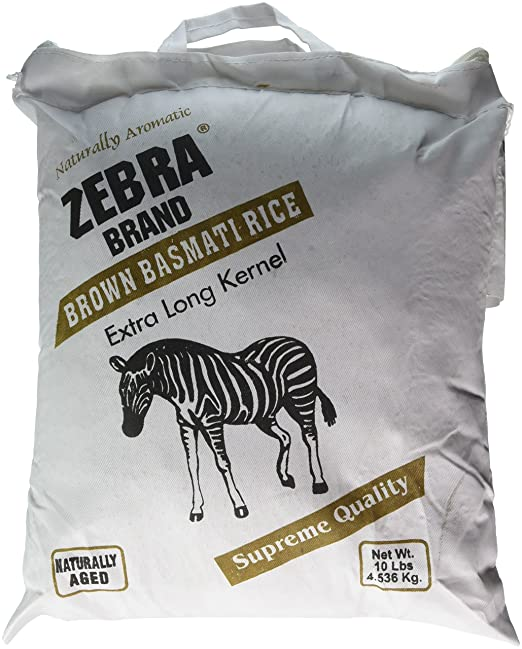 Naturally aromático Zebra neta café Arroz Basmati Bolsa de ...