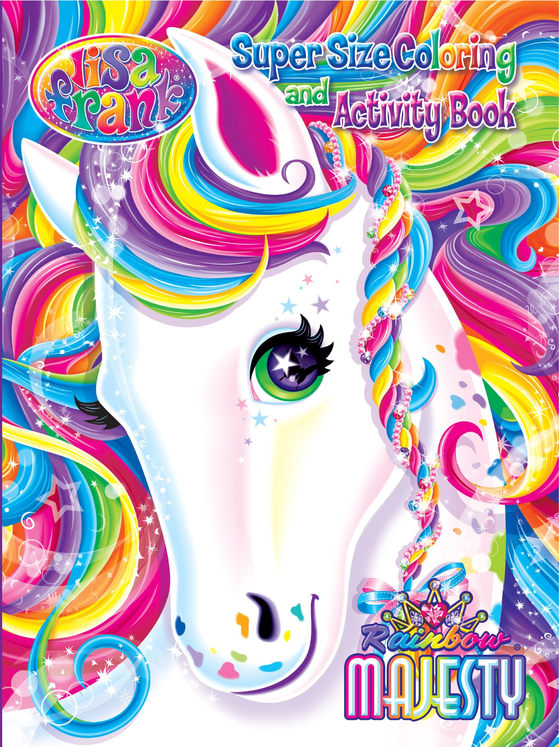Lisa Frank Super Size Coloring and Activity Book-Rainbow Majesty ...
