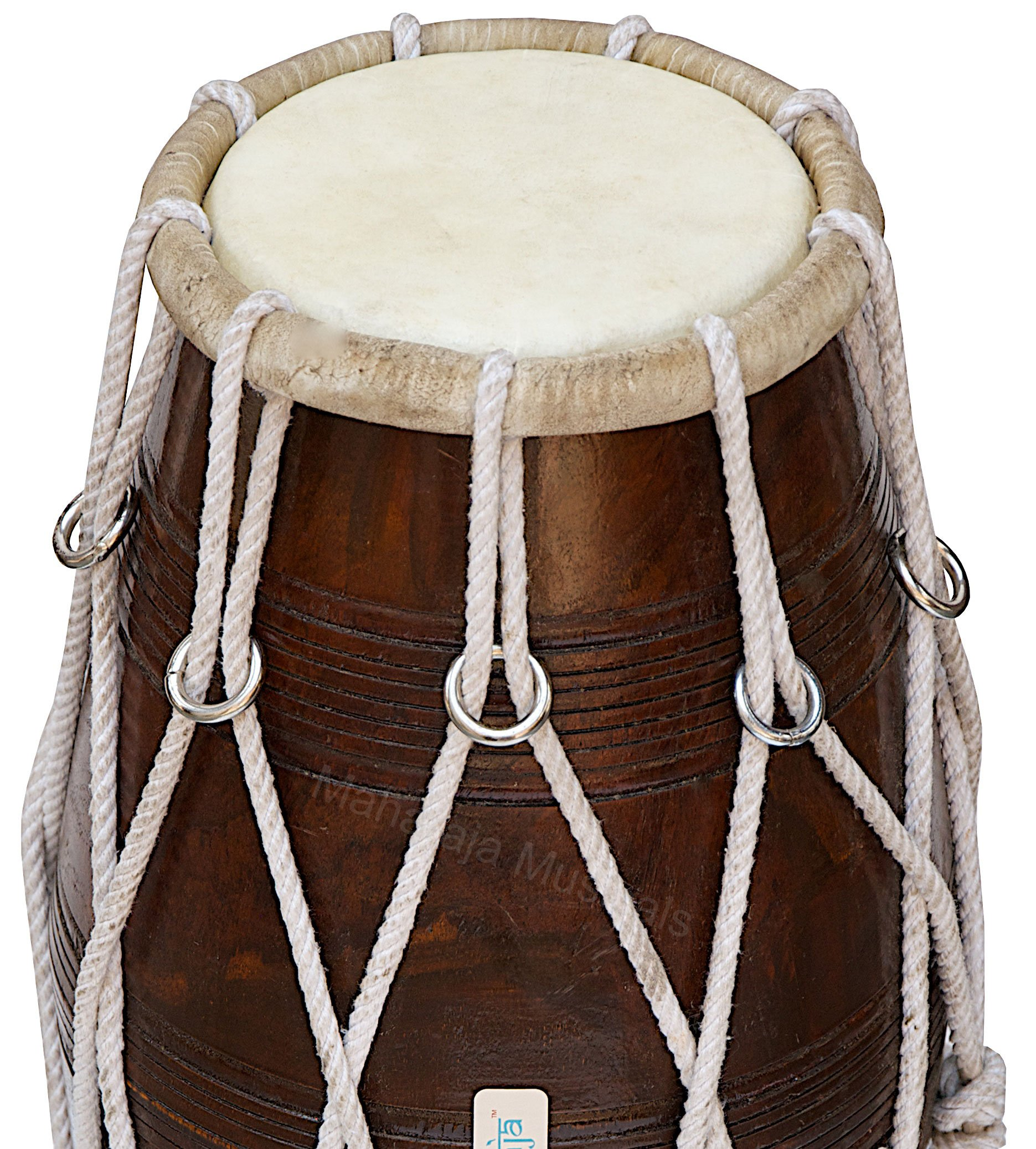 Special Dholak Drum by Maharaja Musicals, Professional Quality, Sheesham Wood, Padded Bag, Spanner, Dholki Musicals Instrument (PDI-BBC) by Maharaja Musicals (Image #4)