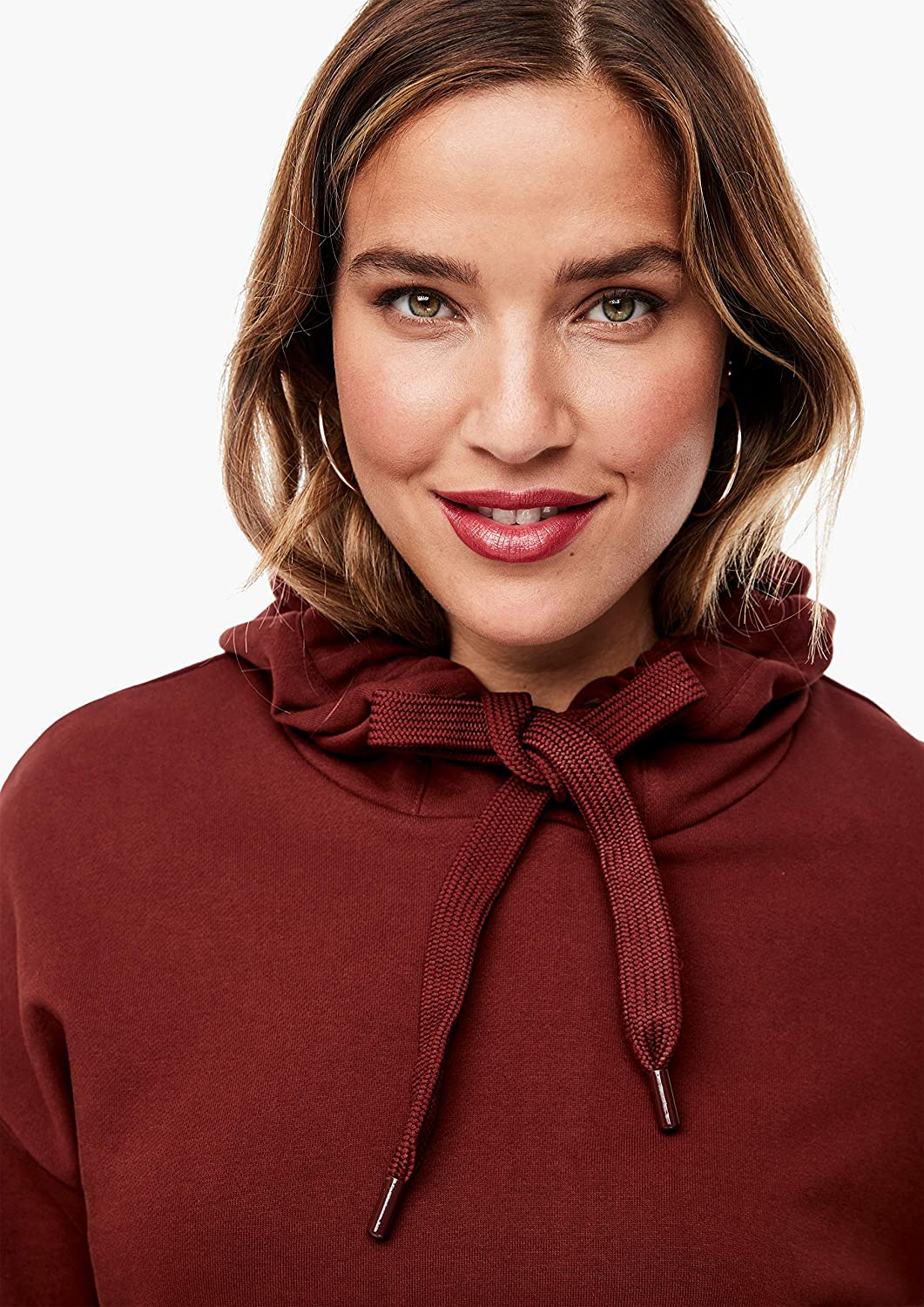 TRIANGLE Damen Sweatshirt mit Knopf-Detail Brown
