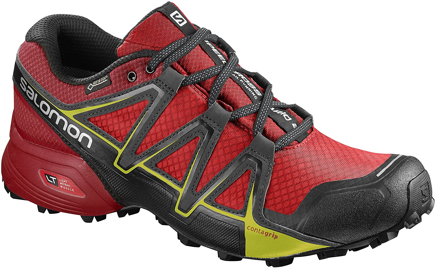 Salomon Herren Speedcross Vario 2 GTX Traillaufschuhe  44 2/3 EU|Rot (Fiery Red/Barbados Cherry/Magnet)