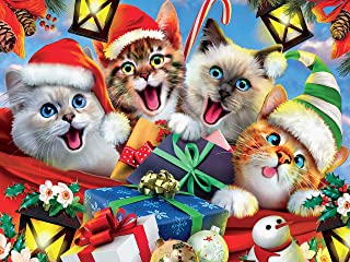 product image for Ceaco Selfies Holiday Cats in Hats Selfie Jigsaw Puzzle, 550 Pieces