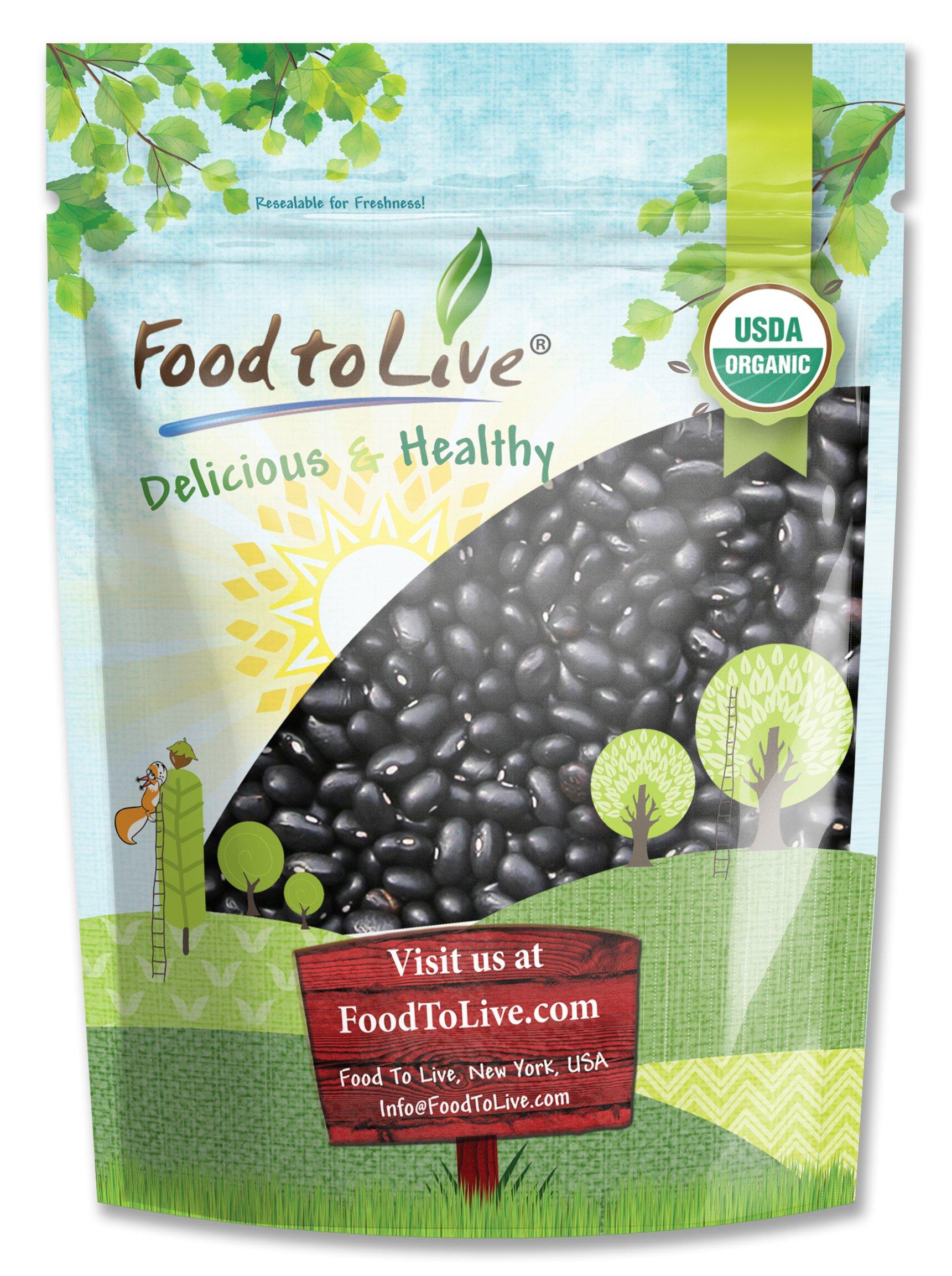 Food To Live Organic Black Turtle Beans (Dried, Non-GMO, Bulk) (3 Pounds)