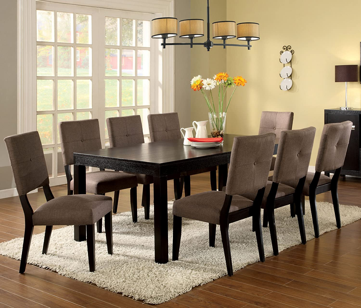 Amazon.com - Furniture of America Roque Rectangular Dining Table ...