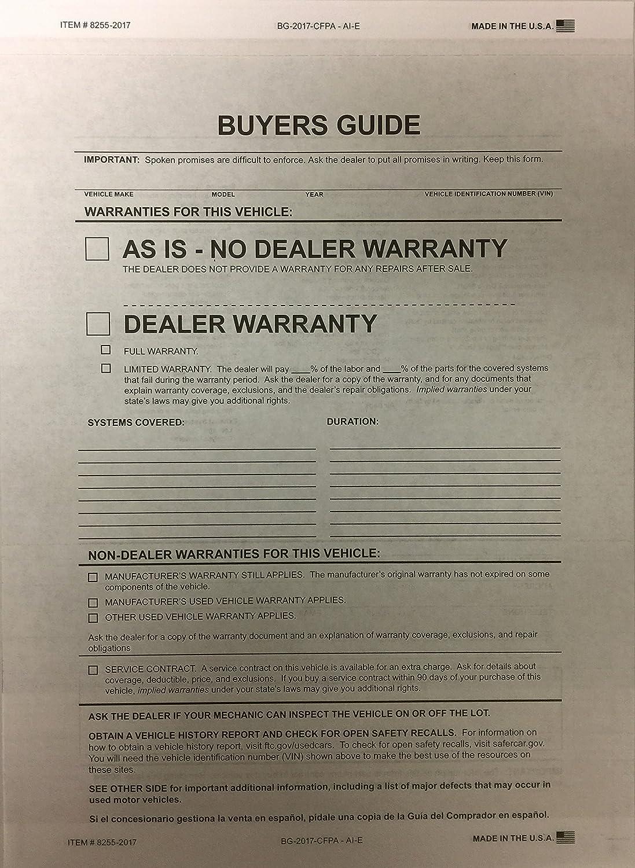 Buyers Guide – 2パーツ# 8255 – 2017 B07818HZPJ