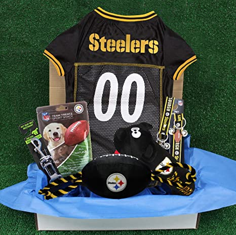 491b93eb3 Amazon.com   NFL Pittsburgh Steelers PET GIFT BOX with 2 Licensed ...