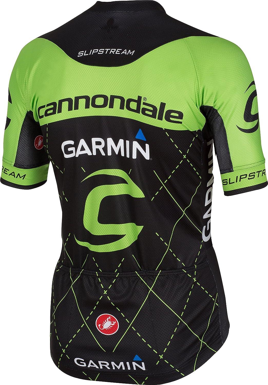 Castelli Cannondale Garmin Team 2.0 Jersey - Short Sleeve - Men s  Black Sprint Green a441a2fc1