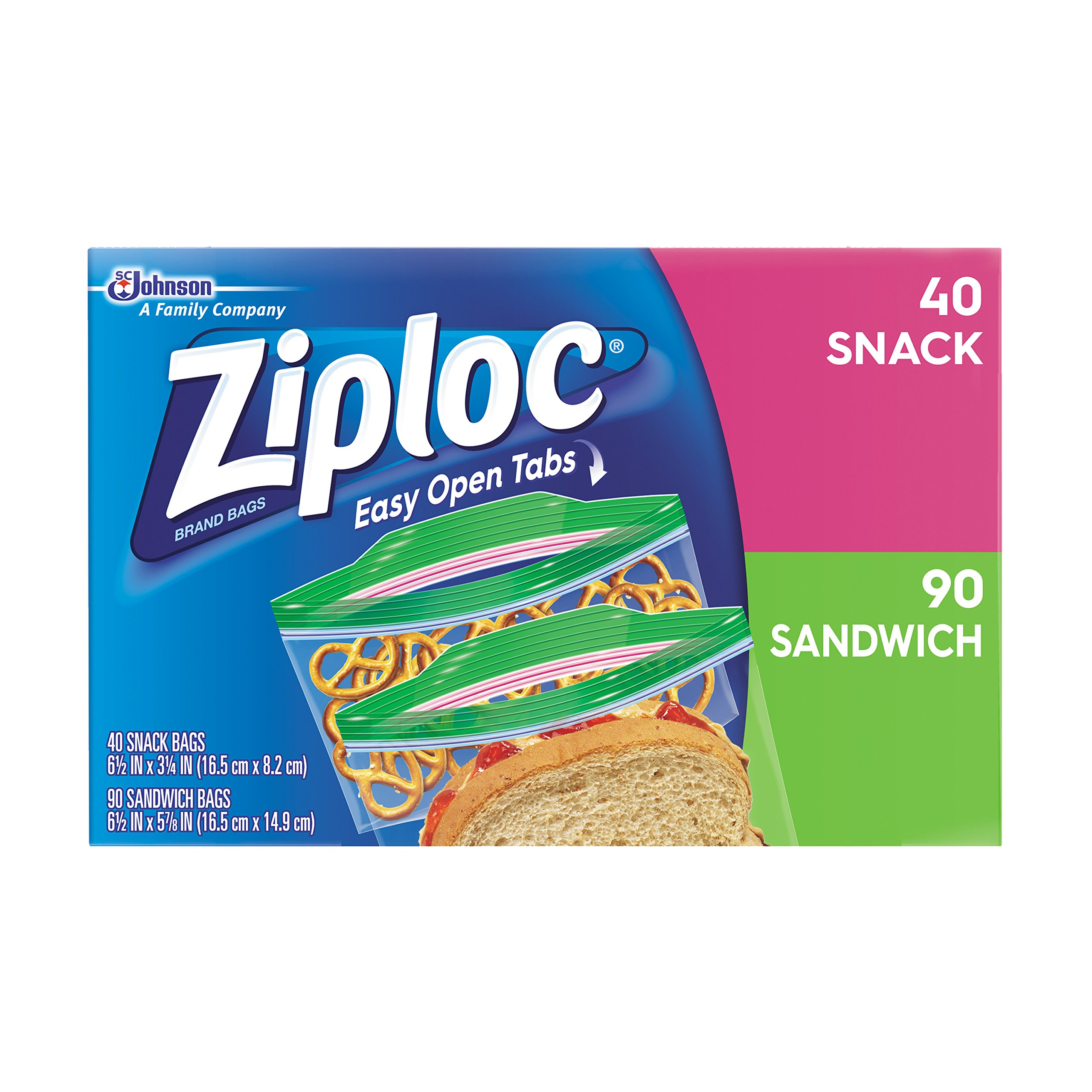 Ziploc Sandwich and Snack Lunch Pack, 130 Count (Pack of 9)