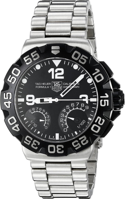 Amazon Com Tag Heuer Cah7010 Ba0854 Formula 1 Calibre S 1 100 Cronografo Acero Inoxidable Reloj Del Hombre Tag Heuer Watches