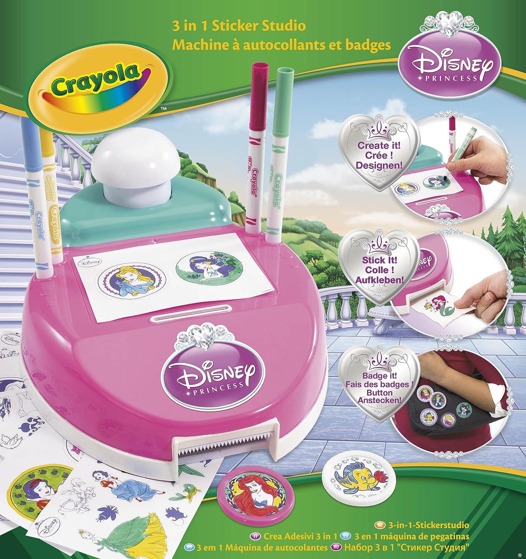 Crayola M quina de pegatinas 3 en 1 Princesas Amazon Juguetes
