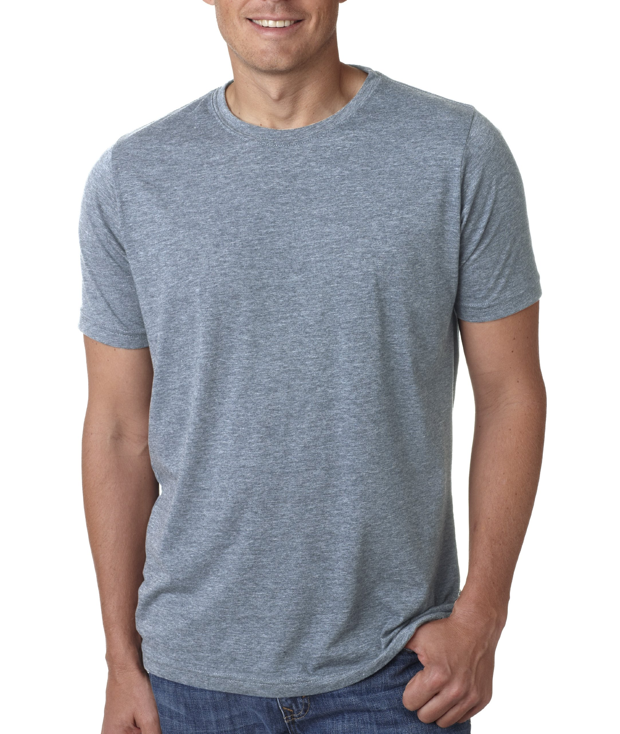 Next Level Apparel 6200 Mens Poly & Cotton Crew Tee - Stonewashed Denim44; Small