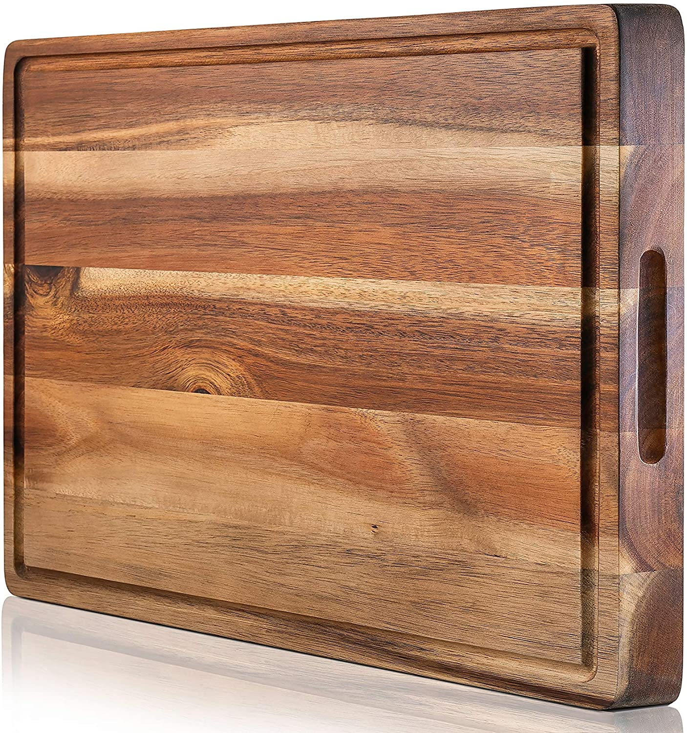 HomeProShops 1-14x12x19 Reversible Solid Mixed Hardwoods END-GRAIN Wood Butcher Block Cutting Board with FREE Mineral Oil included