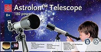 Refraktor teleskop 18 180fache vergrößerung kinderteleskop: amazon