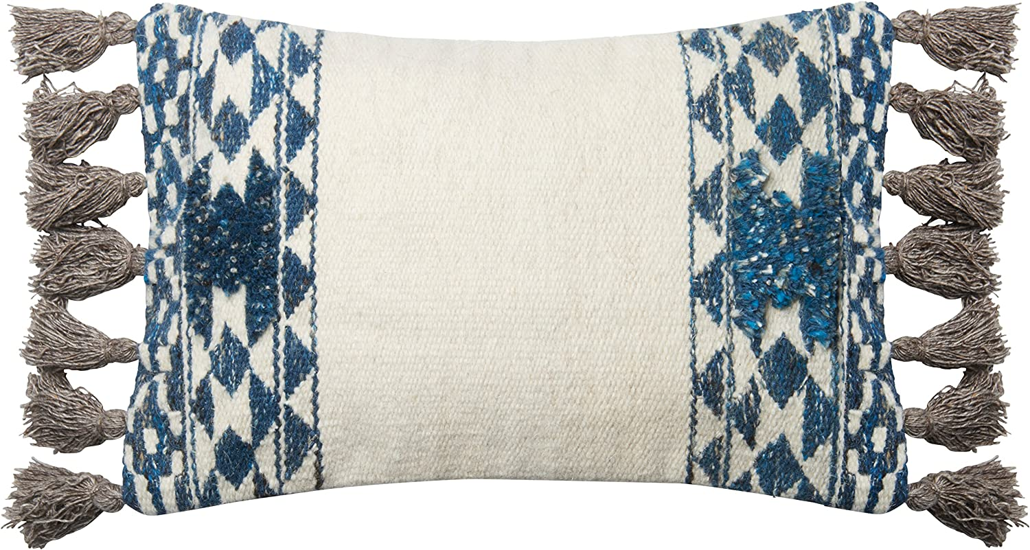 Blue 13 x 21 Loloi Pillow Cover Only//No Fill