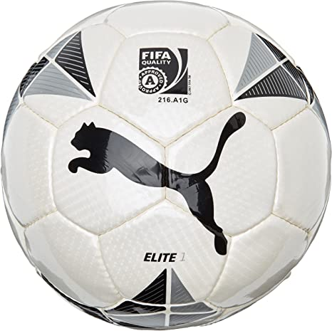 Puma Fußball Elite 1 Ball - Balón de fútbol de Ocio, Color Blanco ...